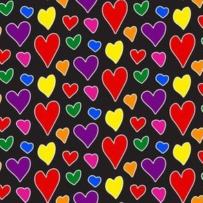 Pride Hearts (on Black)