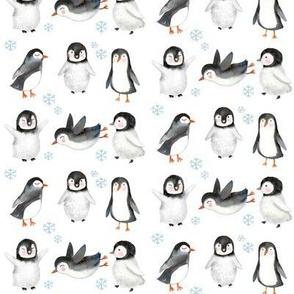 """4"""" Winter Penguins // White"""