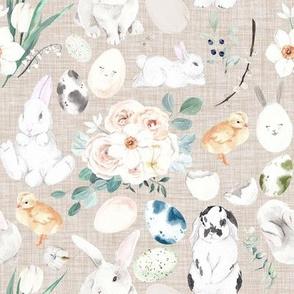 Bunny Trail // Beige Linen