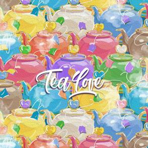 Tea Love Tea Towel | Multi