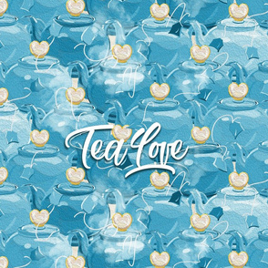Tea Love Tea Towel | Teal