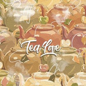 Tea Love Tea Towel | Muted Earth Colors
