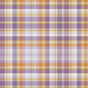 Plaid in Purples and Golds
