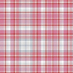 Valentine Plaid in Pinks Grays and Red
