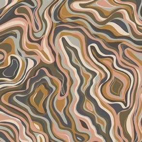 Earth Tone Wavy Texture