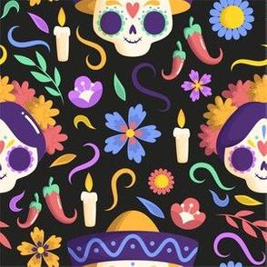 Halloween Day of the Dead Sugar Skull Halloween_Mesa de trabajo 1