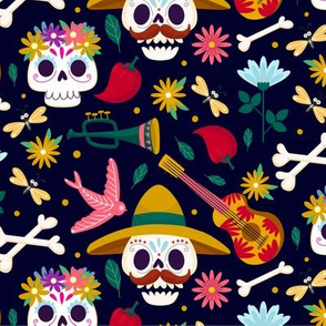 Halloween Day of the Dead Sugar Skull Halloween Cute Halloween-01