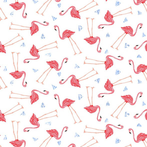 Tossed Flamingos
