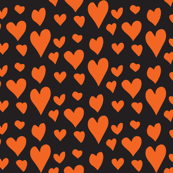 Pride Hearts - Orange on Black