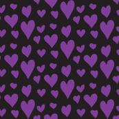 Pride Hearts - Purple on Black