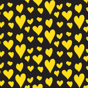 Pride Hearts - Yellow on Black