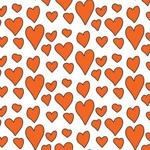 Pride Hearts - Orange on White