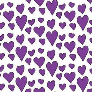Pride Hearts - Purple on White