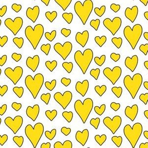 Pride Hearts - Yellow on White