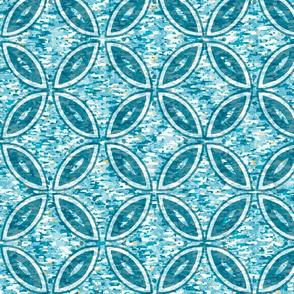 Aqua Texture Geometric Circles