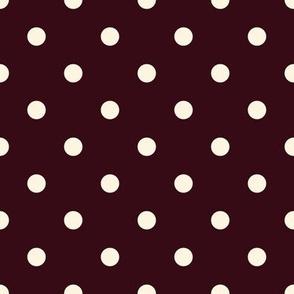 Beige Dots on Wine