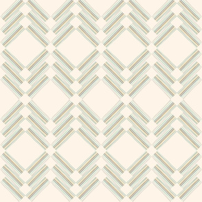 Cream and Mint Lattice Geo
