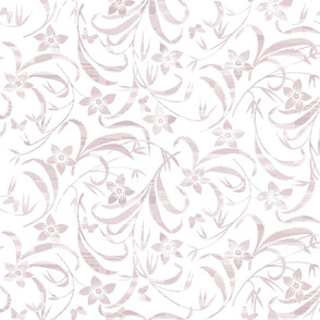 Blush Floral Scroll