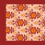 11-geo flat floral-brownish-teatowel