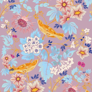 Garden floral - lilac