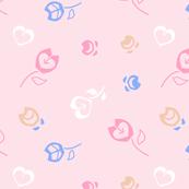 Flowers pastel pink