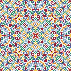 Kaleidoscope doodle bright