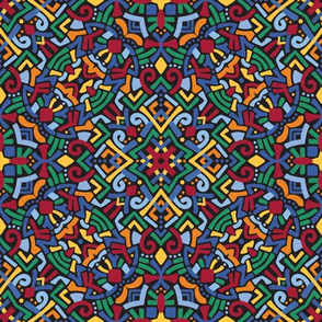 201910 kaleidoscope rainbow on black
