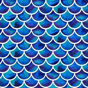 watercolor scales - blue