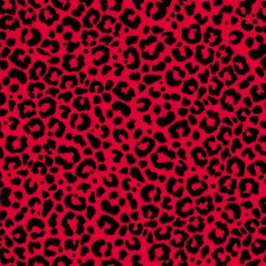 Ditsy Leopard-red