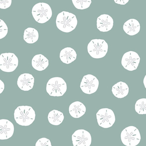 Sand Dollars on Sea Green 300