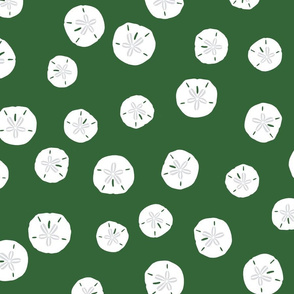 Sand Dollars Leaf Green 300