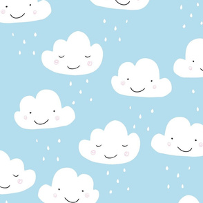 happy clouds_ blue