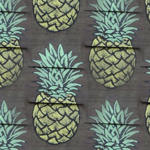pineapple on wood