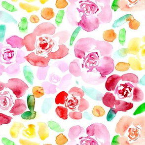 Bloom in Saint-Tropez • watercolor pretty flowers