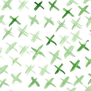 Khaki watercolor crosses • brushstroke abstract print