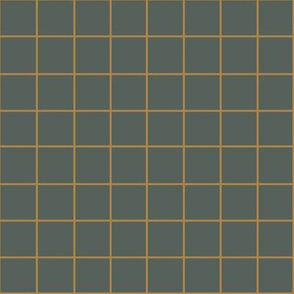 RUST GRID ON DUSTY GREEN