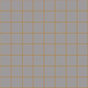 RUST GRID ON GREY
