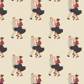Modern jive dancers