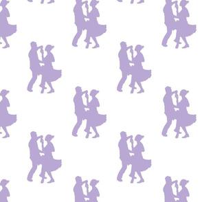 Modern jive dancing silhoet