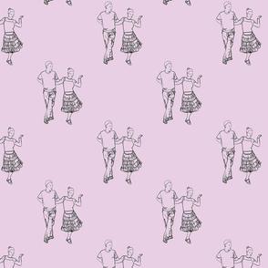Pink Modern jive dancers