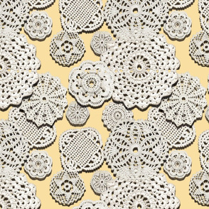 CROCHETED DOILIES (BUTTER)