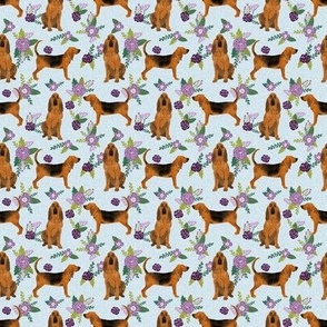 TINY _ bloodhound  pet quilt c dog breed nursery fabric coordinate floral
