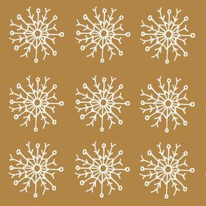 SNOWFLAKE ON MUSTARD