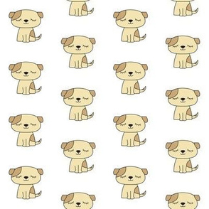 puppy dogs soft neutral colors