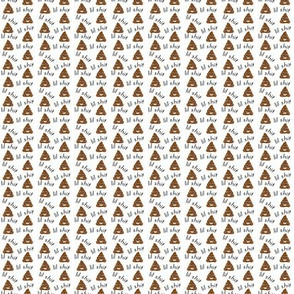 MICRO - lil sh*t - poop, emoji, poop emoji fabric, sweary fabric - mint