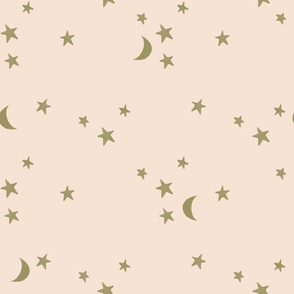 stars and moons // soft gold on 31-1