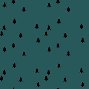 pine trees on spruce