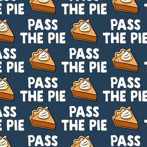 Pass the pie - pumpkin pie - blue - LAD19BS
