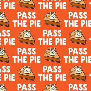 Pass the pie - pumpkin pie - orange - LAD19BS
