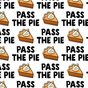 Pass the pie - pumpkin pie - white - LAD19BS